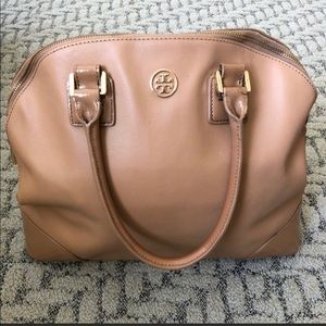 Tory burch camel domed tote